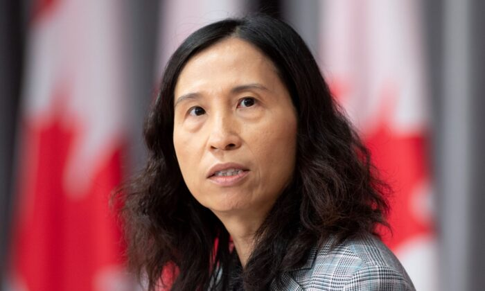 Chief Public Health Officer Theresa Tam responds to a question during a news conference on Parliament Hill on May 28, 2020 in Ottawa. (Adrian Wyld/The Canadian Press)