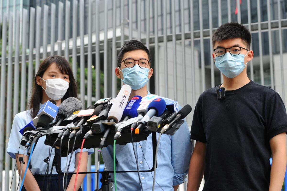 Political Group Co-founded by Hong Kong Activist Joshua...