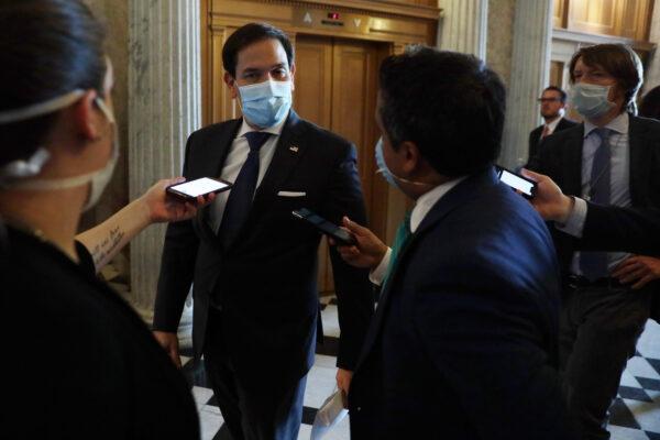 Sen. Marco Rubio (R-Fla.) speaks to the press