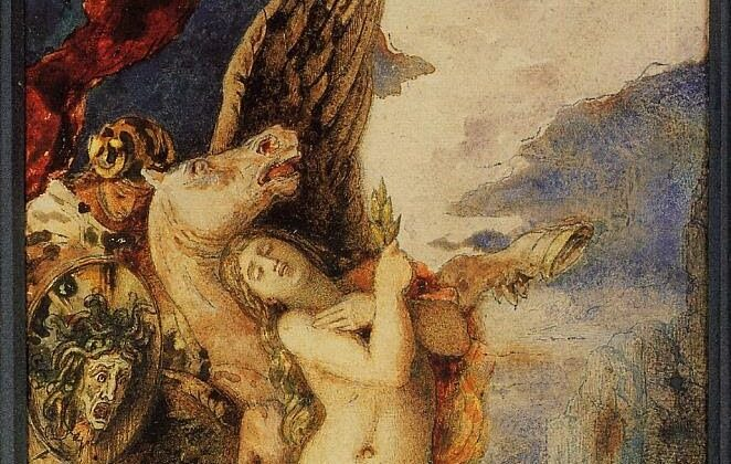 "Detail of ""Perseus and Andromeda,"" between 1867–1869, by Gustave Moreau. Private Collection. (Public Domain)"