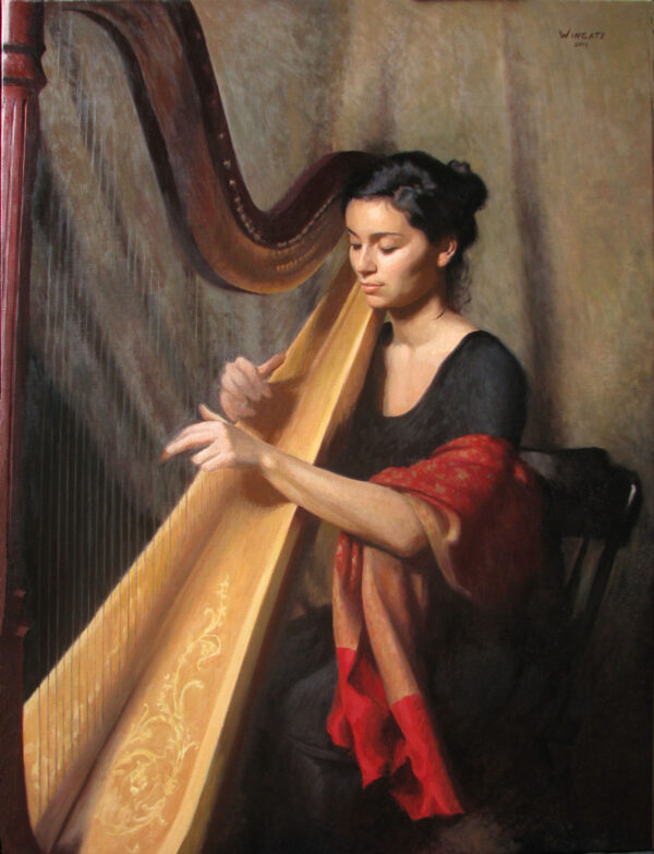 Teresa with harp