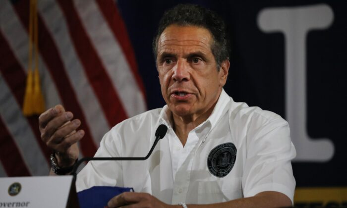 New York Governor Andrew Cuomo in New York City on May 28, 2020. (Spencer Platt/Getty Images)