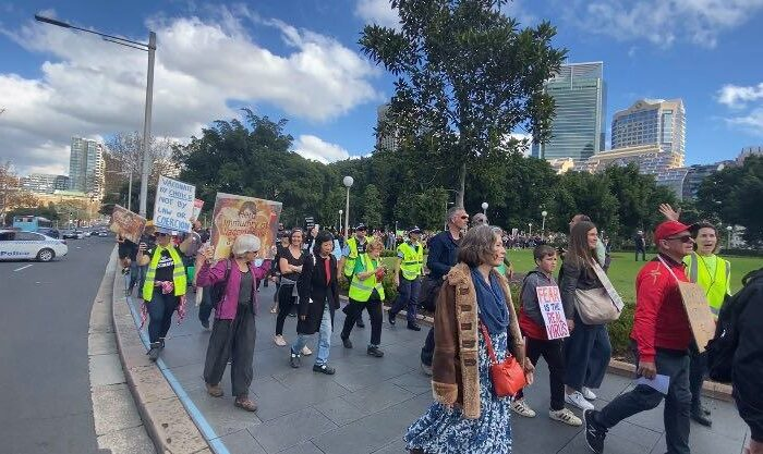 Protestors in Sydney on May 30, 2020. (Supplied)