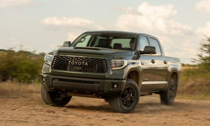 2020 Toyota Tundra TRD Pro in Army Green. (Courtesy of Toyota)