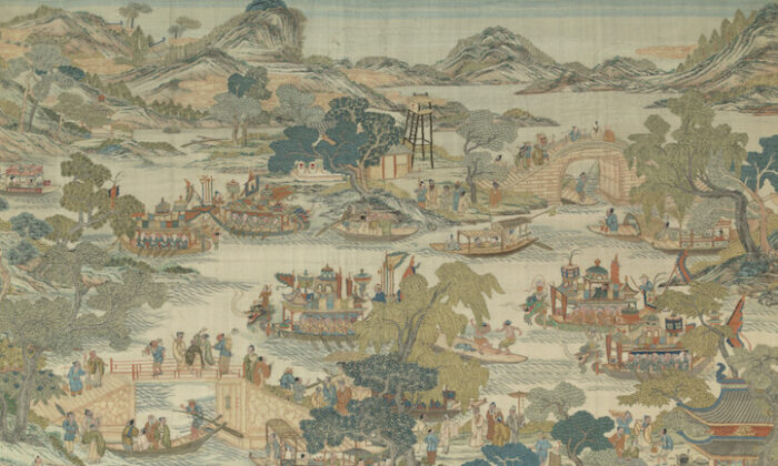 """Dragon Boat Festival Performance,"" Qing Dynasty (1644–1911). From the fierce rowers of the dragon boats to the excited sea of onlookers, this piece captures the joy and prosperity the Duanwu festival brings. (The Metropolitan Museum of Art)"