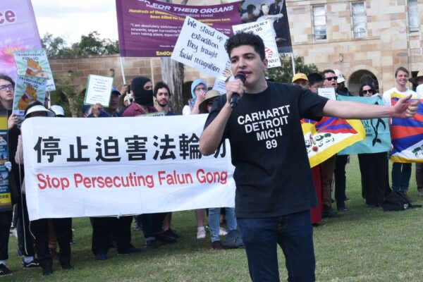 University of Queensland student and human rights activists Drew Pavlou