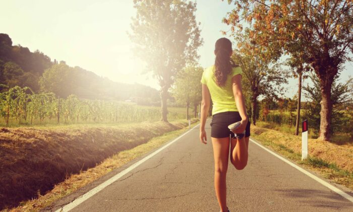 A short bit of exercise can give an energy and concentration boost similar to a cup of coffee—without the side effects. (Zigres/Shutterstock)