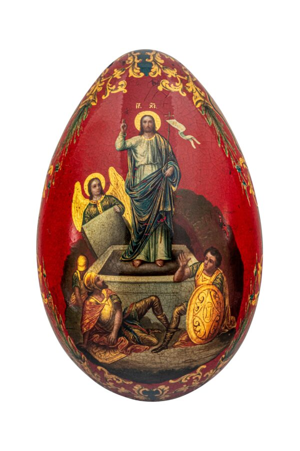 red egg with Christ