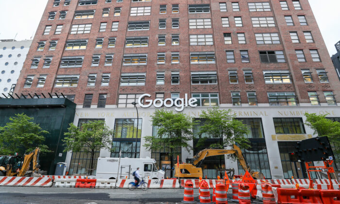 Google building in New York City on April 24, 2020. (Arturo Holmes/Getty Images)
