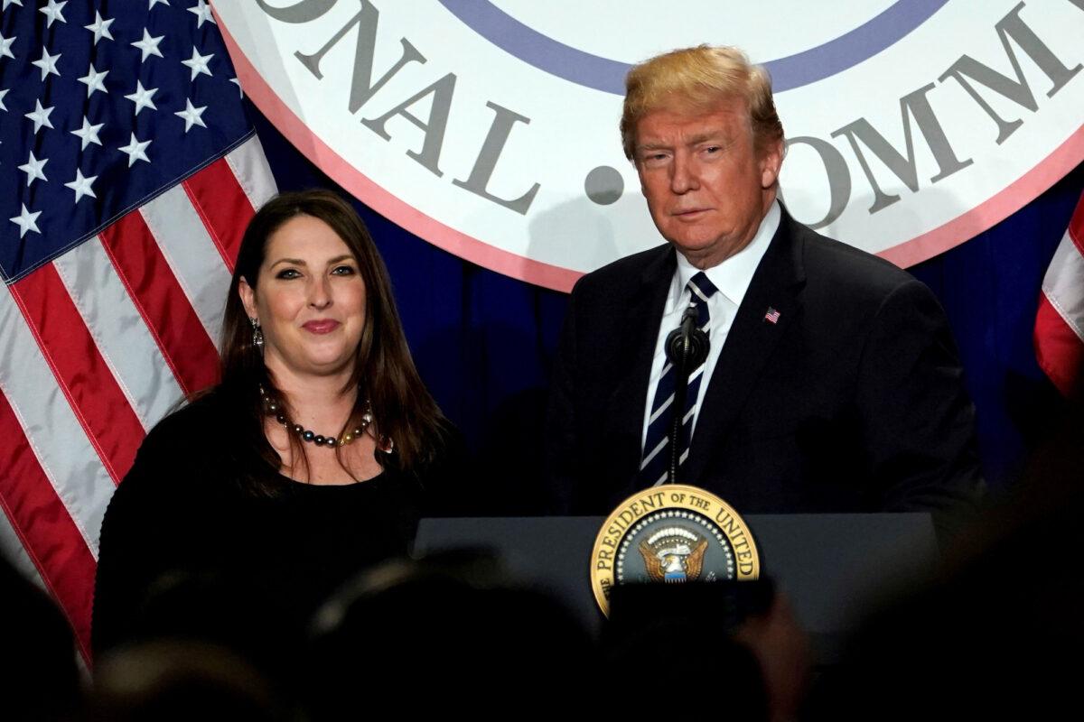 Trump Ronna McDaniel RNC