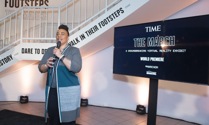 Bernice King attends the TIME Launch Event for The March VR Exhibit at the DuSable Museum in Chicago on Feb. 26, 2020. (Daniel Boczarski/Getty Images for TIME)