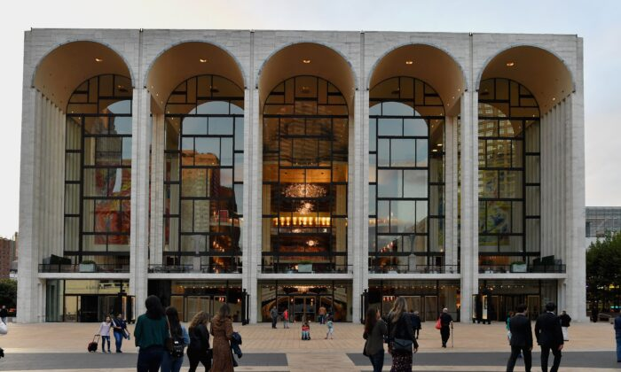 View of the Metropolitan Opera at Lincoln Center for the Performing Arts on Oct. 5, 2018 in New York City. (Angela Weiss/AFP via Getty Images)