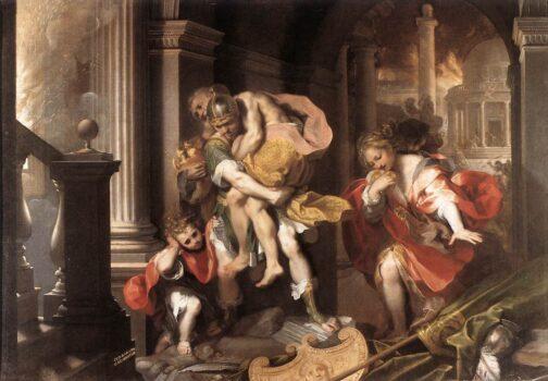 Aeneas'_Flight_from_Troy_by_Federico_Barocci