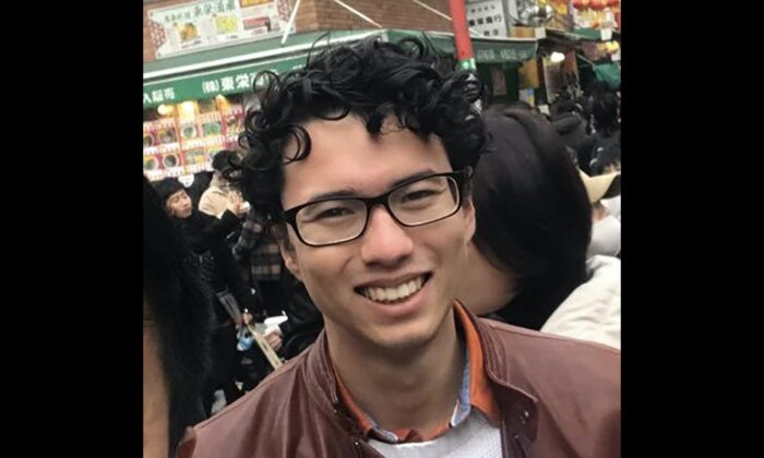 ANU student Kai Clark, 21, who was arrested and detained in Hong Kong for more than 30 hours. (AAP Image/Supplied by Kai Clark)