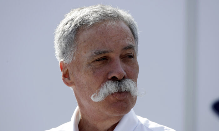 CEO of the Formula One Group, Chase Carey, arrives prior to the third free practice at the Monza racetrack, in Monza, Italy on Sept. 7, 2019. (Luca Bruno/AP Photo)