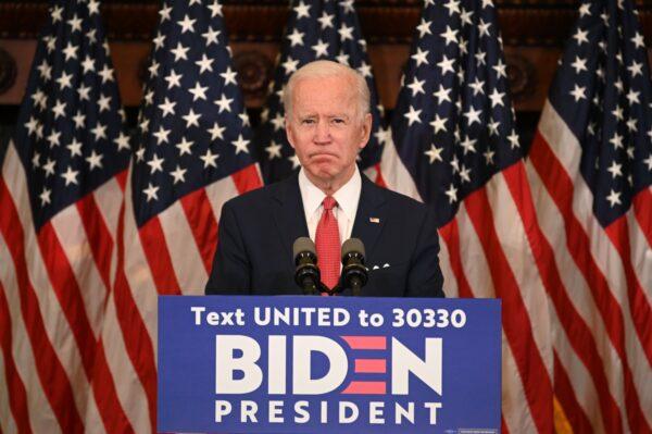 former Vice President Joe Biden speaks