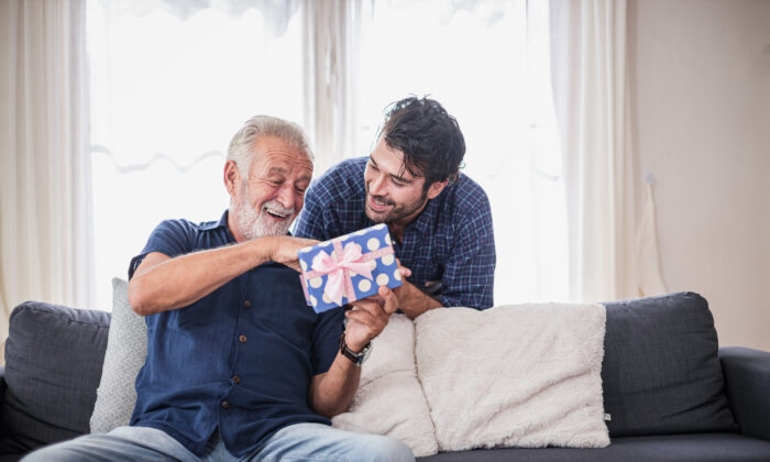 This is a great year to celebrate with homemade cards, homemade treats, and gifts that enhance Dad's experience at home. (Sumala Chidchoi/Shutterstock)