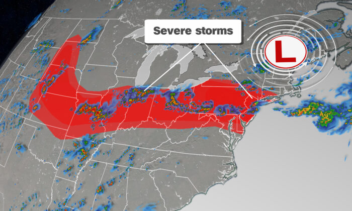 Intense storms that spread Wednesday morning across parts of the Midwest and Great Lakes will become more widespread into the night.(CNN)