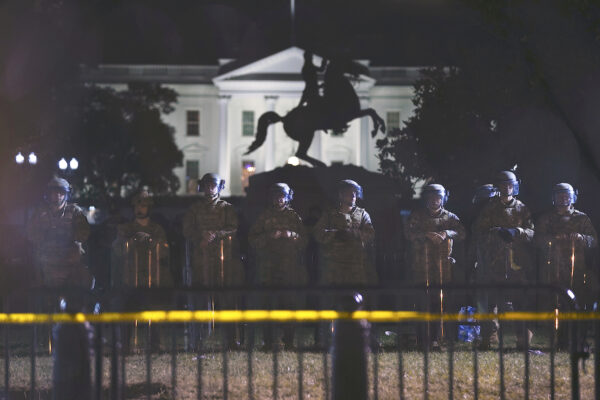 white house floyd protest