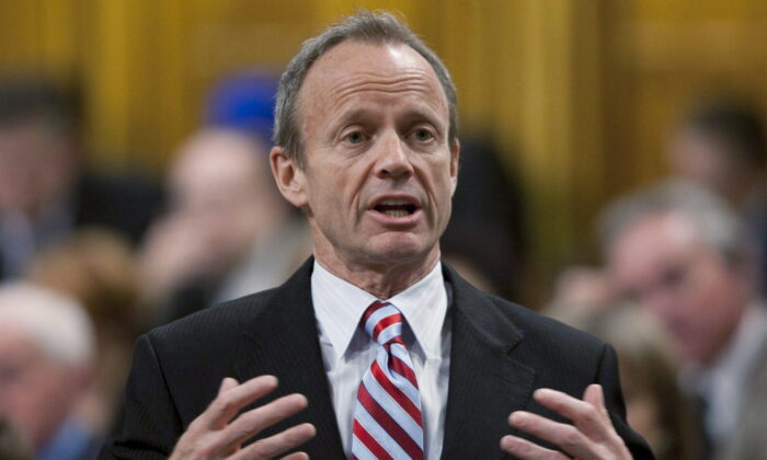 Then president of the Treasury Board and Minister for the Asia-Pacific Gateway, Stockwell Day rises during Question Period in the House of Commons on Parliament Hill in Ottawa, in this file photo. (Adrian Wyld/The Canadian Press)