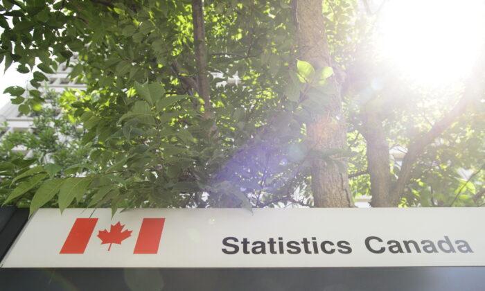 A Statistics Canada sign in Ottawa on July 3, 2019. (Sean Kilpatrick/The Canadian Press)
