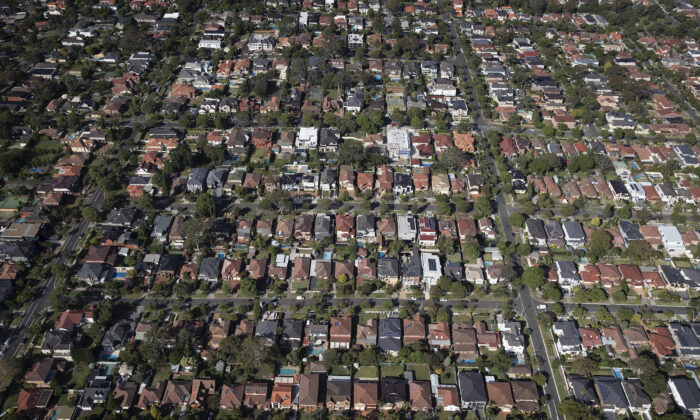 An aerial view of suburban houses on April 22, 2020 in Sydney, Australia. (Ryan Pierse/Getty Images)