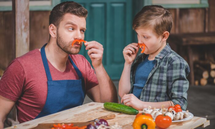 The pandemic lockdown has given some families the time to play with their food—and eat it together. (LightField Studios/Shutterstock)