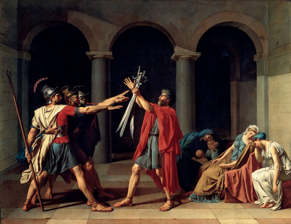 6_11_Jacques-Louis_David,_Oath of the Horatii