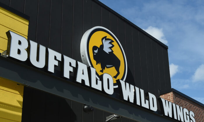 Buffalo Wild Wings exterior in Jacksonville, Fla., on Feb. 1, 2018. (Rick Diamond/Getty Images for Buffalo Wild Wings)