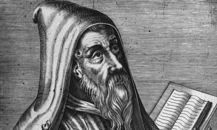 """Among his many works, Augustine of Hippo (354–430) wrote two books about lying, """"On Lying"""" (De Mendacio) and """"Against Lying"""" (Contra Mendacio). (Hulton Archive/Getty Images)"""
