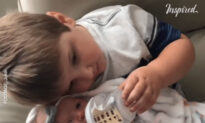 Landon Meets Little Sister For The First Time