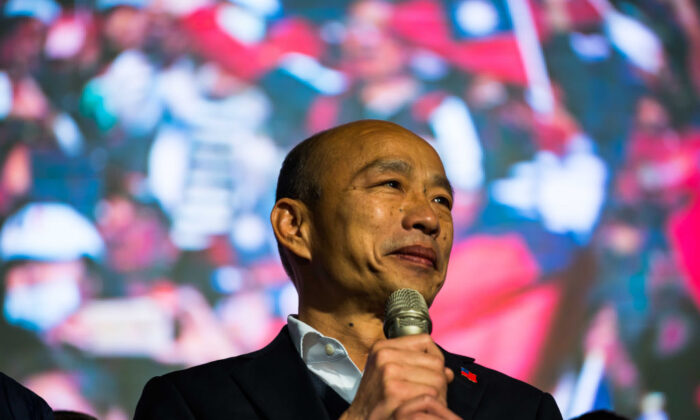 Han Kuo-yu speaks during a rally in Kaohsiung, Taiwan, on Jan. 11, 2020.  (Billy H.C. Kwok/Getty Images)