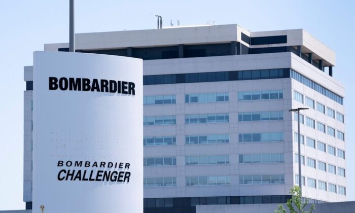 A Bombardier plant is seen in Montreal on June 5, 2020. (Paul Chiasson/The Canadian Press)