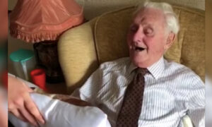 World War II Veteran Breaks Down After Receiving Pillow With Late Wife's Face on It