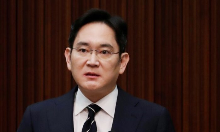 Samsung Electronics Vice Chairman, Jay Y. Lee, speaks during a news conference at a company's office building in Seoul, South Korea, May 6, 2020. (Kim Hong-Ji/Reuters)
