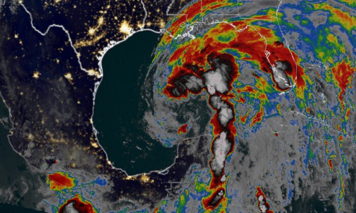 A satellite image showing Tropical Storm Cristobal as of June 6, 2020. (CNN)