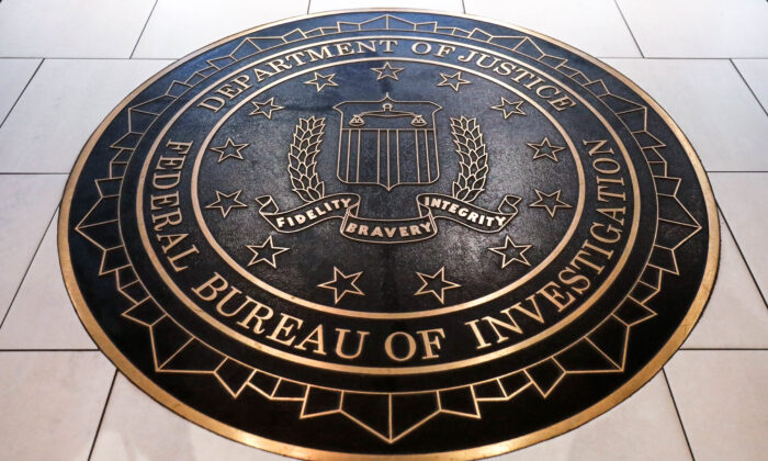 The Federal Bureau of Investigation (FBI) seal at its headquarters in Washington on June 14, 2018. (Yuri Gripas/Reuters)