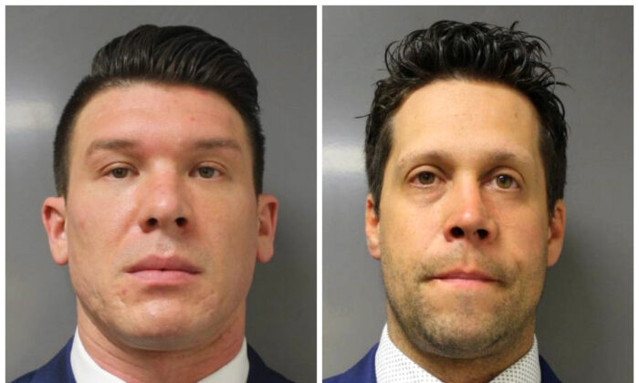 Suspended Buffalo police officer Robert McCabe and Aaron Torgalski on June 6, 2020. (Erie County District Attorney's Office via AP)