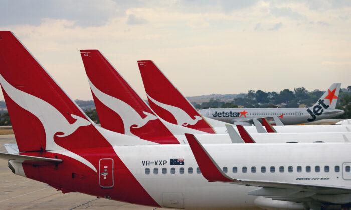 Qantas axes overseas flights until October. (Scott Barbour/Getty Images)