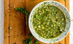 Italian Salsa Verde With Parsley and Capers
