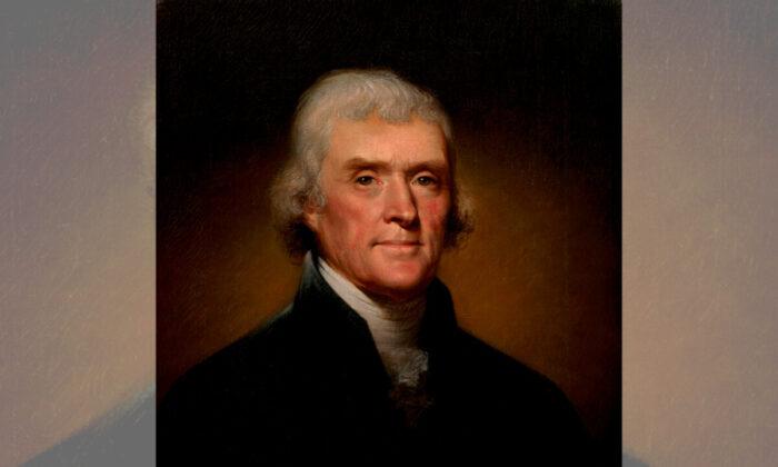 Portrait of Thomas Jefferson by Rembrandt Peale, 1800. (Public domain)