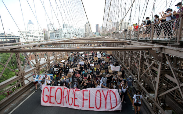 George Floyd's Family Attends Memorial Service And March In New York City