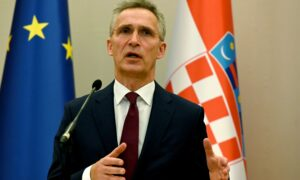 NATO Chief Urges Allies to Work Together to Defend Against China Threat
