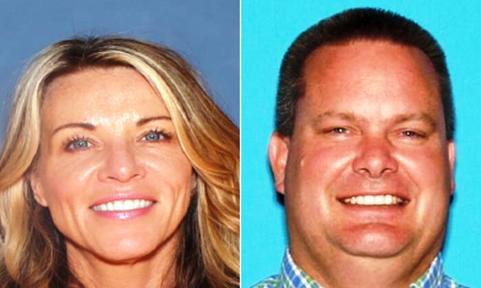 Lori Vallow (L), and Chad Daybell (R). (Rexburg Police Department)