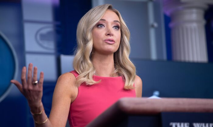 White House Press Secretary Kayleigh McEnany holds a press briefing at the White House in Washington, on June 8, 2020. (Saul Loeb/AFP via Getty Images)