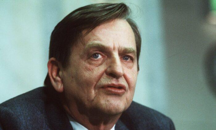 Swedish Prime minister Olof Palme on Dec. 12, 1983. (Anders Holmstrom/TT via AP)