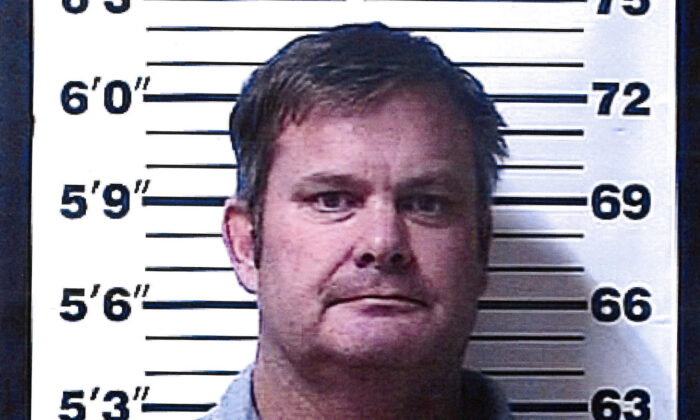 A booking photo provided by the Rexburg (Idaho) Police Department shows Chad Daybell, who was arrested on June 9, 2020, on suspicion of concealing or destroying evidence after local and federal investigators searched his property, according to the Fremont County Sheriff's Office.(Rexburg Police Department/AP)