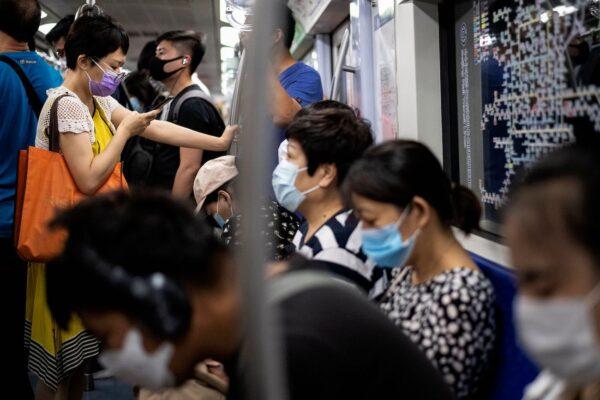 masks on train