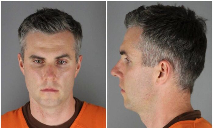 Former Minnesota police officer Thomas Lane poses in a combination of booking photographs at Hennepin County Jail in Minneapolis, Minnesota on June 3, 2020.  (Hennepin County Sheriff's Office/Handout via Reuters)