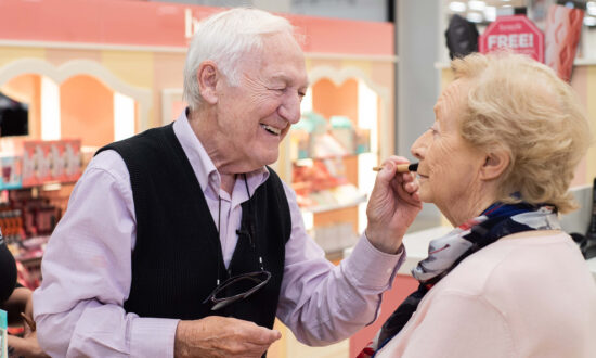 84-Year-Old Doting Husband Masters Makeup Skills to Help His Partially Blind Wife
